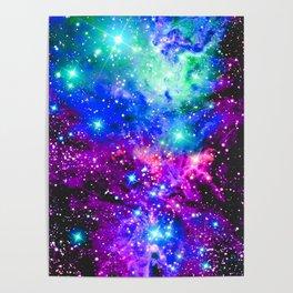 Fox Fur Nebula Galaxy Pink Purple Blue Poster