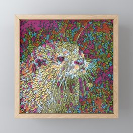 Abstract Otter Framed Mini Art Print