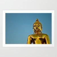 Golden Buddha 2 Art Print