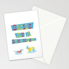 Smile at a Stranger Stationery Cards