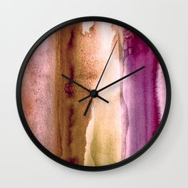 Watercolor Skin & Earth Tones, Calm and Soulful Home Goods Design Wall Clock