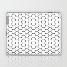 White Hex Laptop & iPad Skin