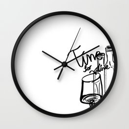Time for Wine IV Wall Clock