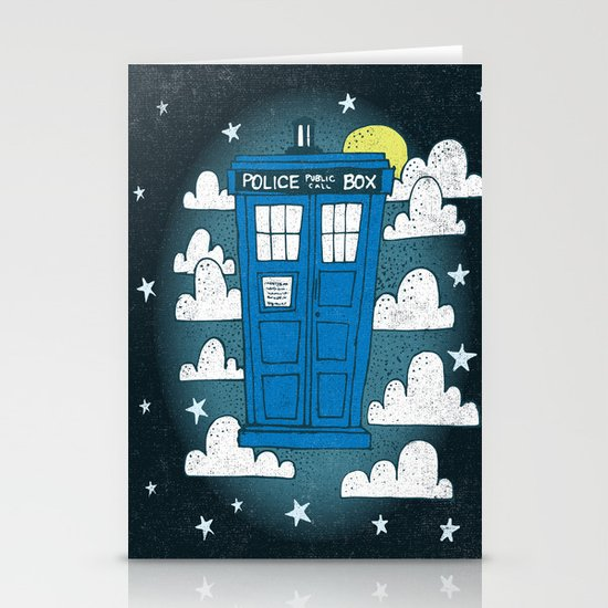 blue box Stationery Cards