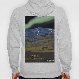 Vintage Poster - Steese National Conservation Area, Alaska (2015) Hoody