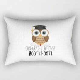 Con-grad-ulations! Hoot! Hoot! Rectangular Pillow