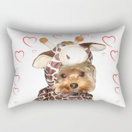 Yorkie Giraffe | Yorkies | Dogs | nb Rectangular Pillow