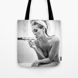 The French Inhale Tote Bag