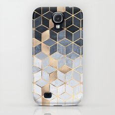 Soft Blue Gradient Cubes Galaxy S4 Slim Case