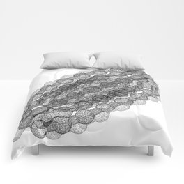 GEOMETRIC NATURE: COULOMB CRYSTAL w/b Comforters