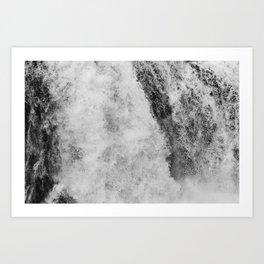 The hidden waterfall Art Print