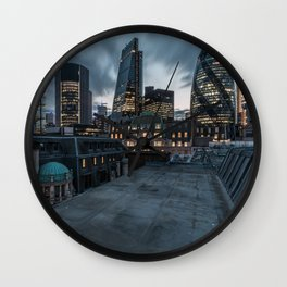 London on the roofs Wall Clock
