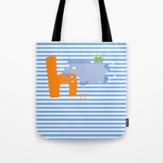 h for hippo Tote Bag