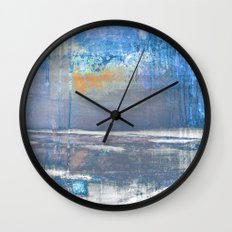 Blue Color Patches Wall Clock