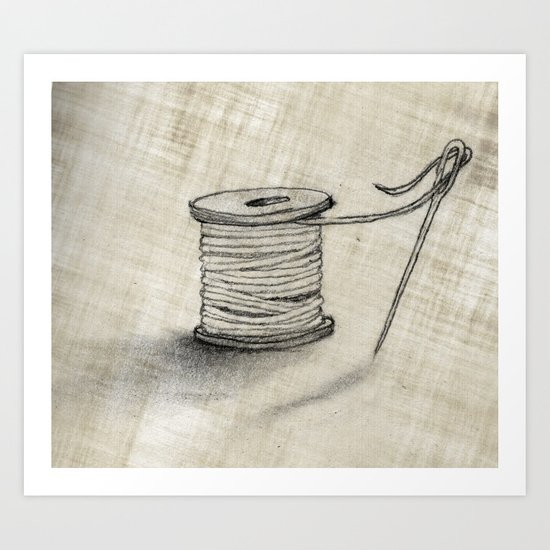 Sewing Time Art Print