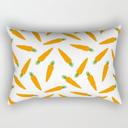 CARROT CARROTS VEGGIE FOOD PATTERN Rectangular Pillow