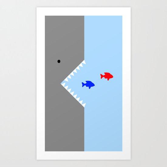 JAWS! Art Print