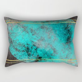 Textured Turquoise Diamonds Rectangular Pillow