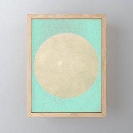 Florida Moon Minimalism Mint Turquoise Beige Framed Mini Art Print