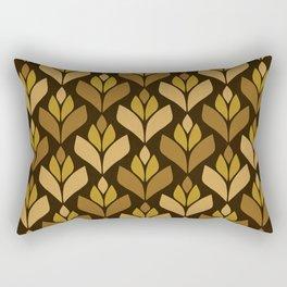 Dark Retro Trefoil Pattern Rectangular Pillow