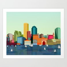 City Boston Art Print