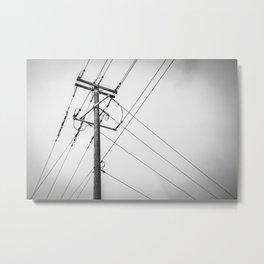 Electric Pole Metal Print
