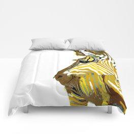 ZEBRA GOLDEN Animal Print Comforters