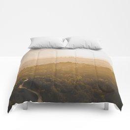 Golden Hour - Los Angeles, California Comforters