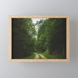 The green path Framed Mini Art Print