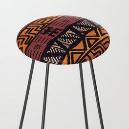 Tribal ethnic geometric pattern 021 Counter Stool