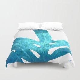 Ocean Blue Fern Duvet Cover