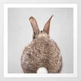 Rabbit Tail - Colorful Art Print
