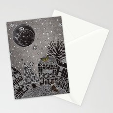 'Twas a Moonlit Winter Night Stationery Cards