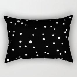 Black Rock Star Field Rectangular Pillow