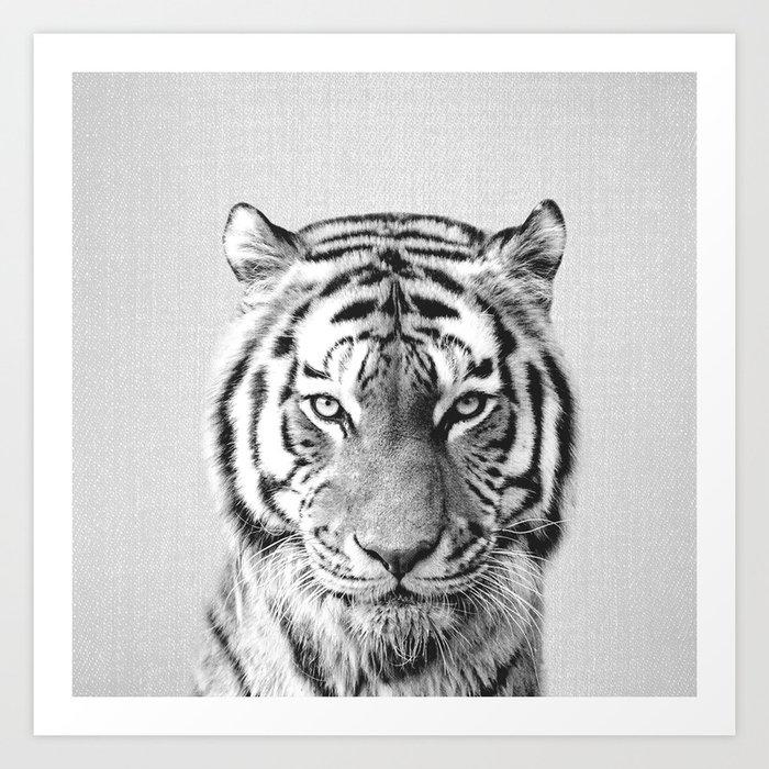 Tiger - Black & White Kunstdrucke
