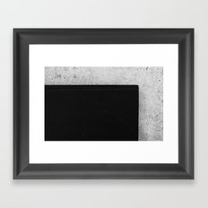 Book and Stone Framed Art Print