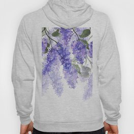 Purple Wisteria Flowers Hoody