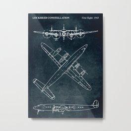 LOCKHEED CONSTELLATION - First flight 1943 Metal Print