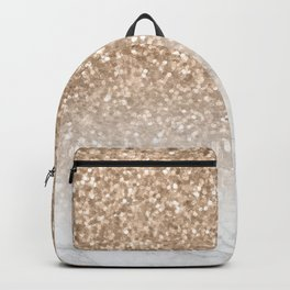 Sparkle - Gold Glitter and Marble Backpack