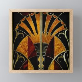 art deco wood Framed Mini Art Print