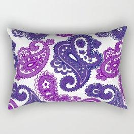 Fun Purple Paisley Rectangular Pillow