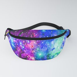 Fox Fur Nebula Galaxy Pink Purple Blue Fanny Pack