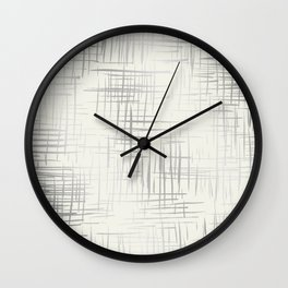 Crosshatch Silver Wall Clock