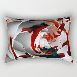 Paining a Rose Red Rectangular Pillow