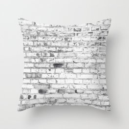 Withe brick wall Throw Pillow