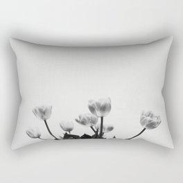 Black & White Tulips Rectangular Pillow