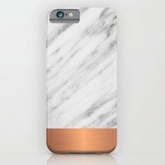 Carrara Italian Marble Holiday Rose Gold Edition iPhone 6 Slim Case