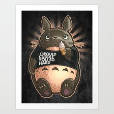 CUDDLE MONSTER Art Print