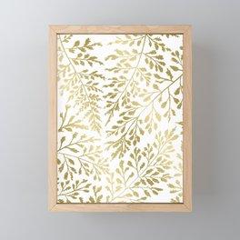Gold Leaves Framed Mini Art Print