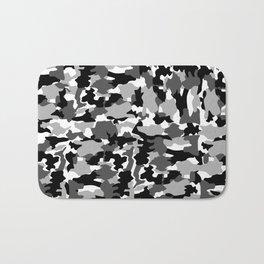 black and white Background Pattern Camo Bath Mat